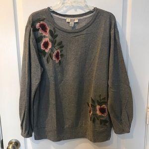 Vintage America Embroidered Sweatshirt